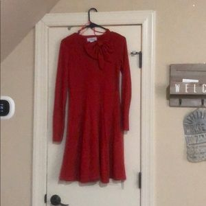 Size small red dress  J. Howard